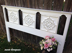 headboard in antique white