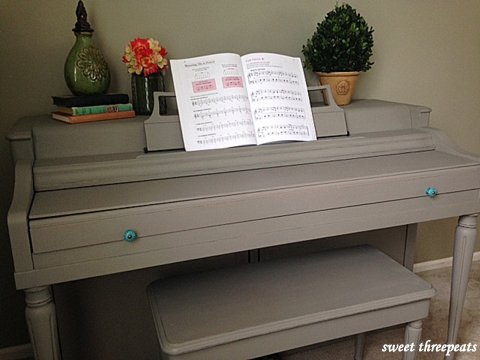 piano makeover french linen