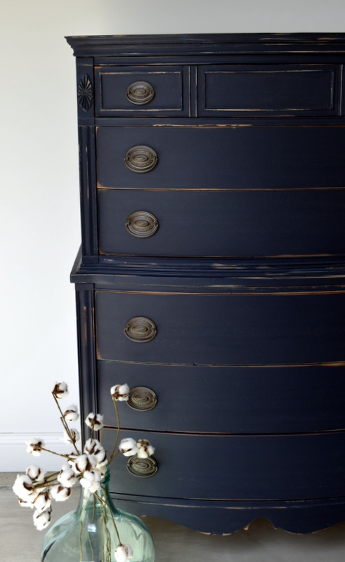 coastal blue distressed dresser