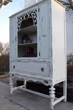 antique white hutch