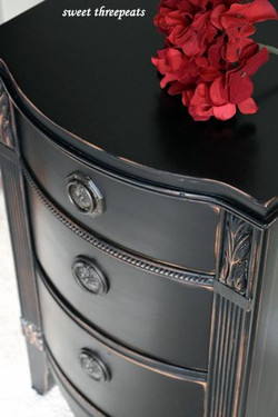 lamp black night stand