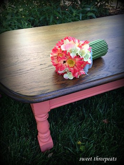 custom color coral coffee table
