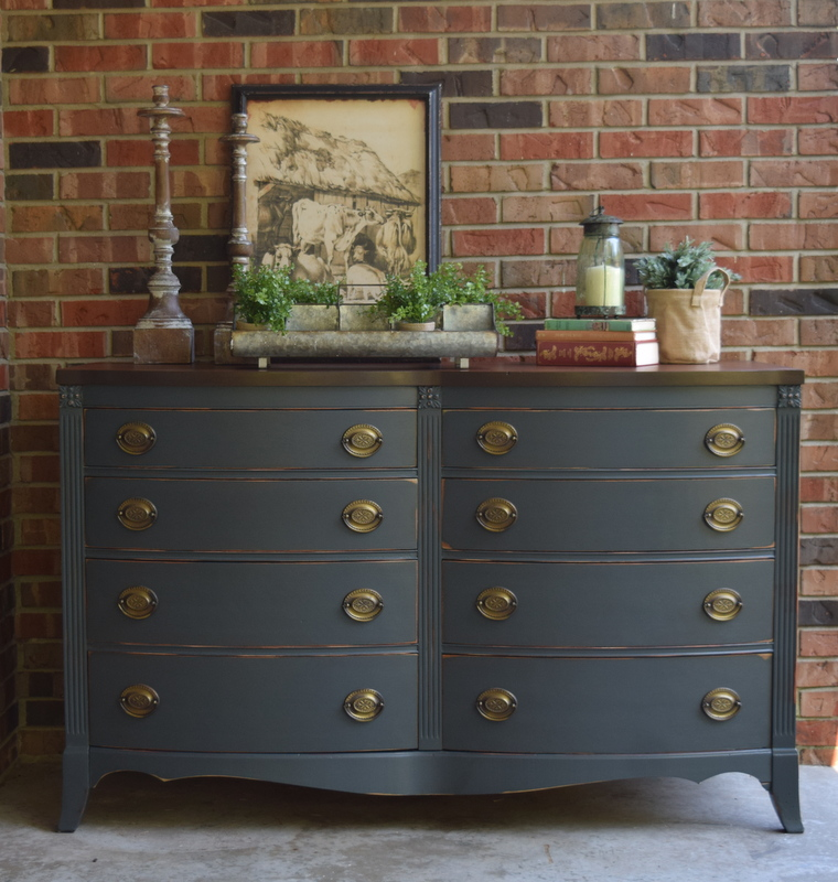 1920's buffet in slate
