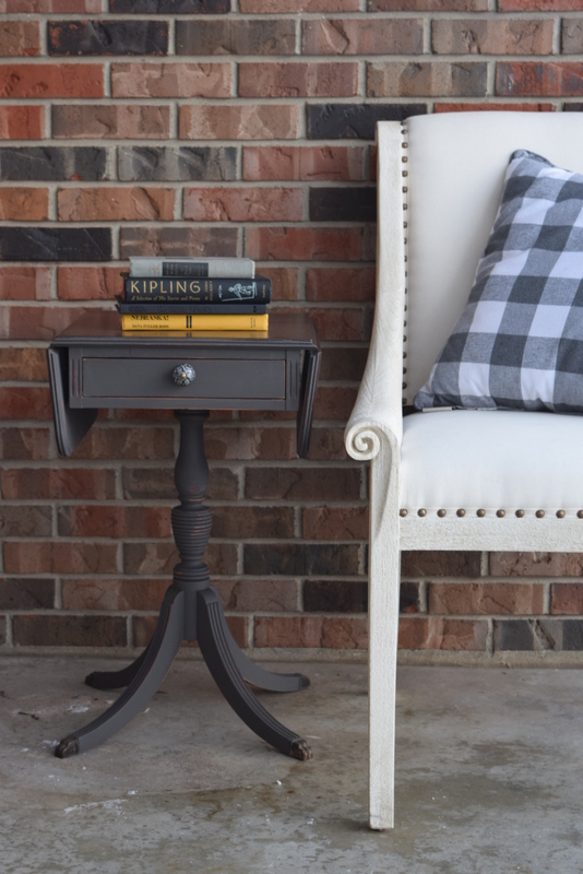 gravel road side table