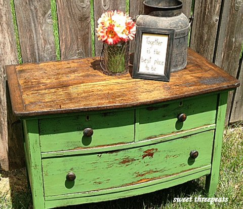 cliveden green rustic chest