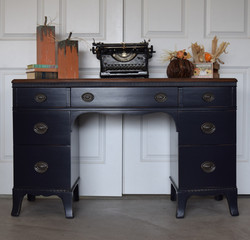 custom mix navy desk