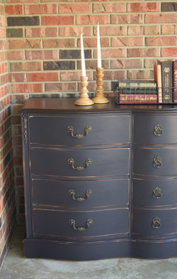 sophisticated buffet in navy