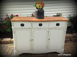 buffet makeover - custom paint mix