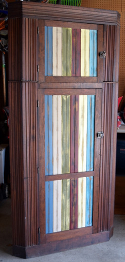 primative multi-colored cabinet