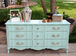 mint nursery dresser