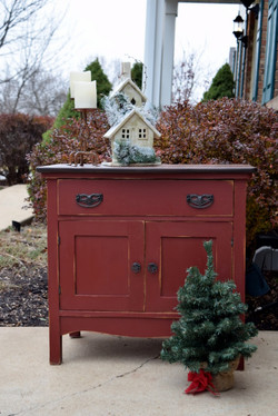 tuscan red dry sink