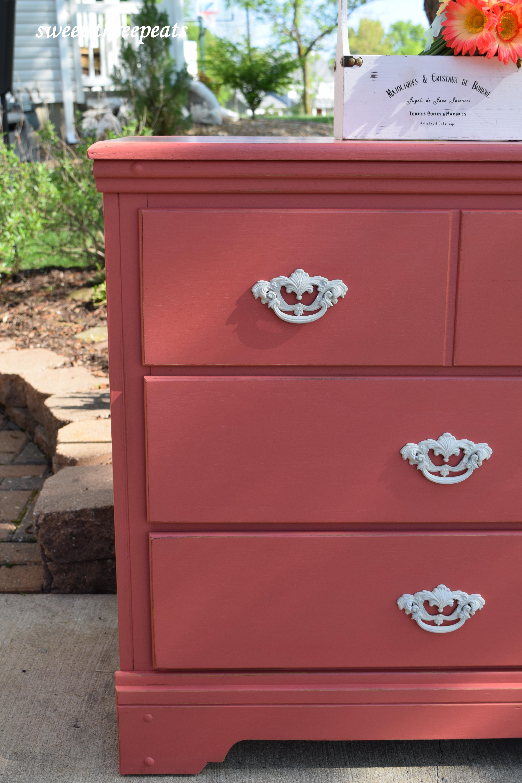 custom coral mix dresser