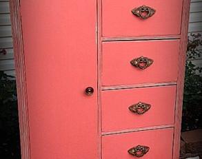 custom beachy coral armoire