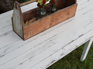 farmer's table in antique white