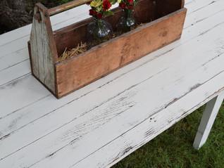 farmer's table in antique white