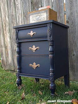 coastal blue milk paint night stand