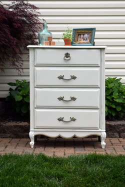 antique white chest