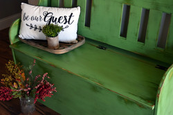 bench in rustic charm