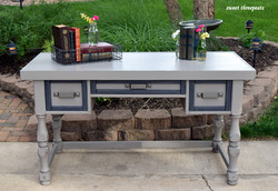 industrial style writing desk