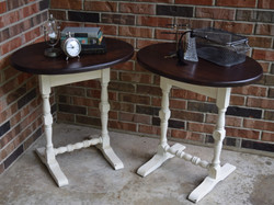 drop cloth end tables