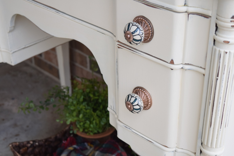 antique hutch details