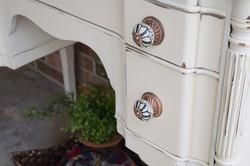 antique hutch details