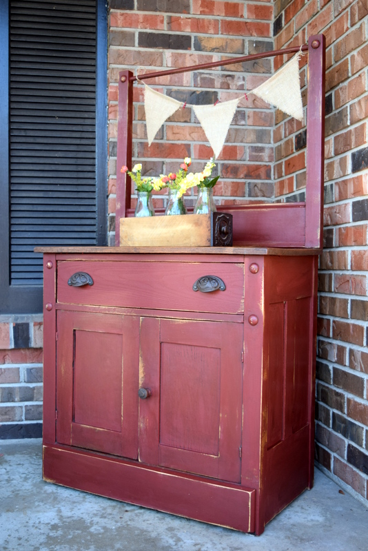 tuscan red antique dry sink