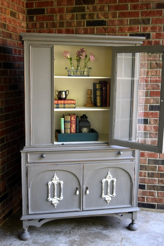 stone mudpaint farmhouse hutch