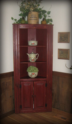 hutch makeover tuscan red