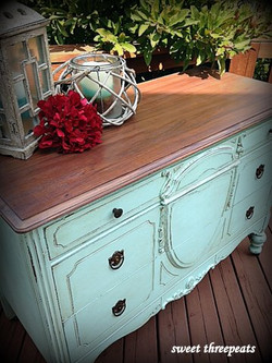 custom color aqua dresser/buffet