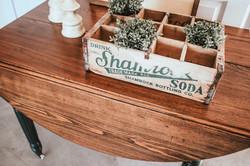 antique drop leaf table - colonial maple