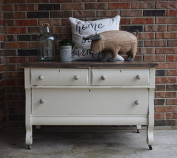 drop cloth tv stand