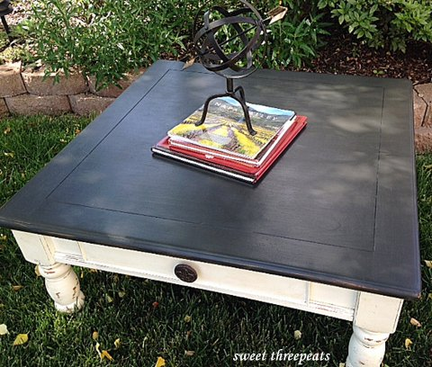 custom white & black coffee table
