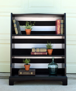 modern bookcase in lamp black