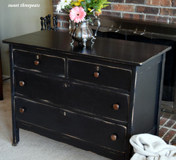 rustic dresser in lamp black