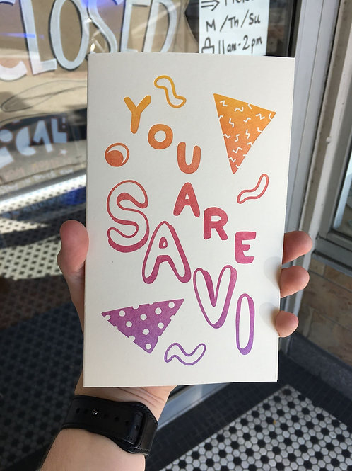 You Are SAVI Sketchbook