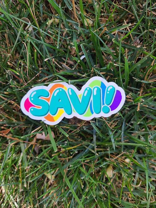 SAVI!  Sticker