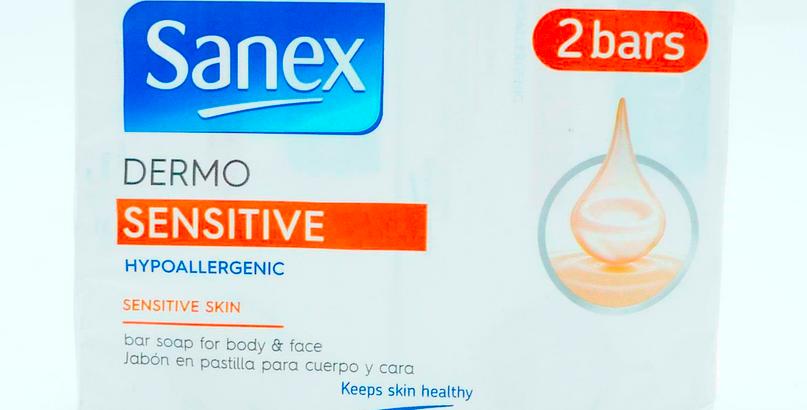 Sanex Dermo Sensitive Soap Bars   Hypoallergenic   2 x 90g Pack   LOW PRICE