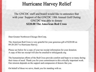 $220.00 Goes to the Victims of Hurricane Harvey