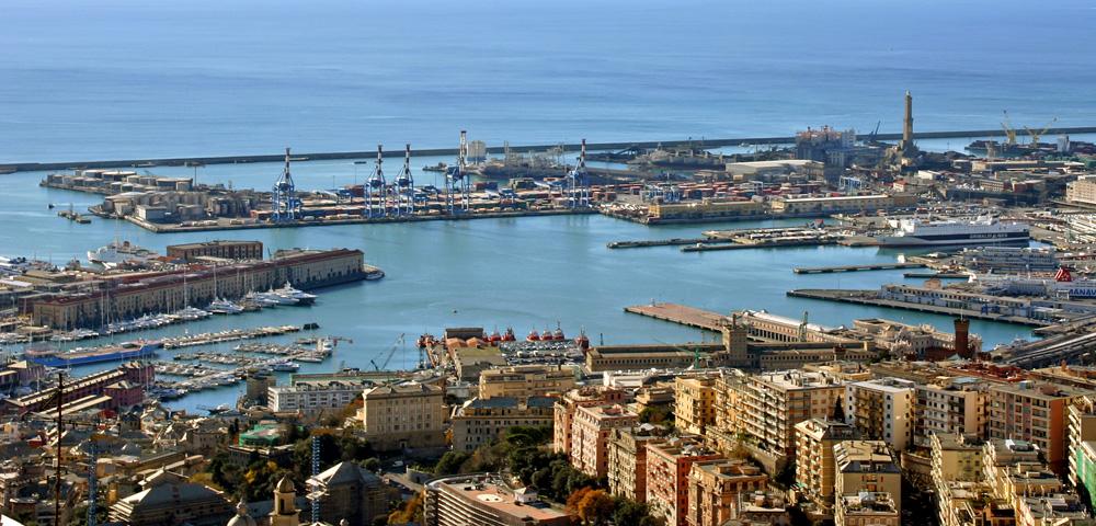 Genova panorama Porto Antico