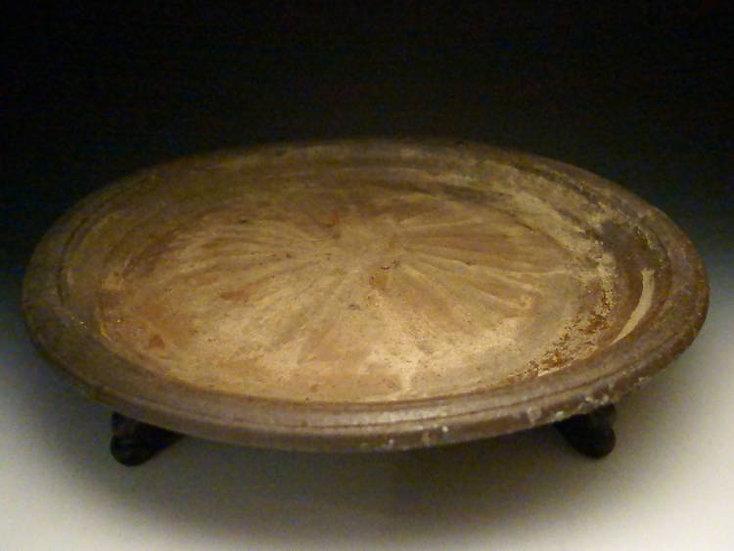 南蛮焼 大皿 直径44cm 唐木台付