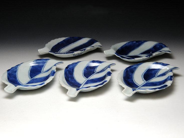 清朝 南京葉皿 5枚組 嘉慶年製