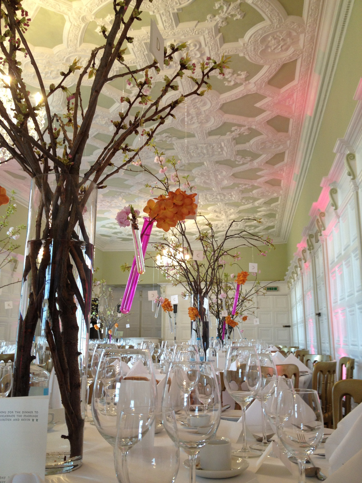 Hanging designs work well in large areas. this was our first wedding under the brand Twig and looked amazing.