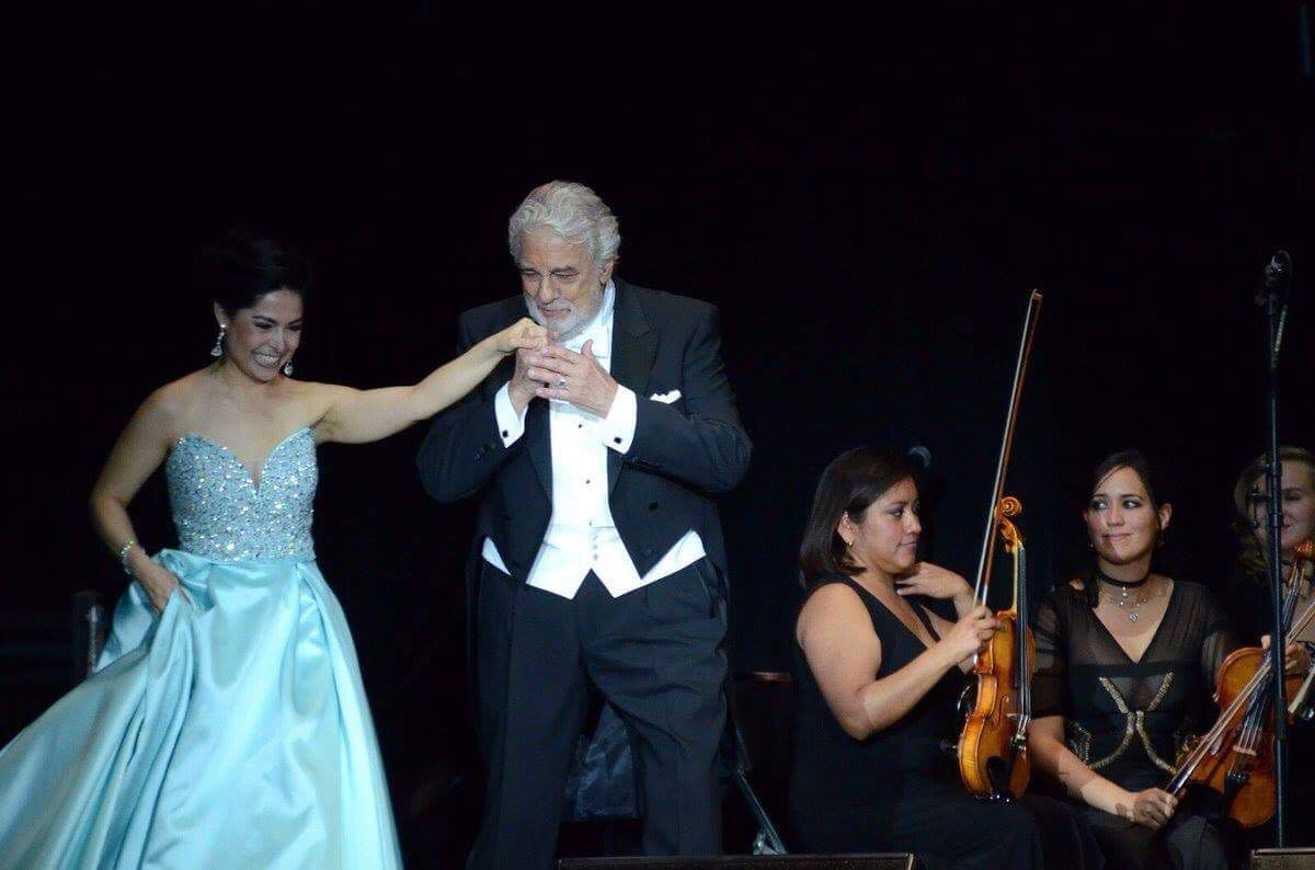 With Plácido Domingo