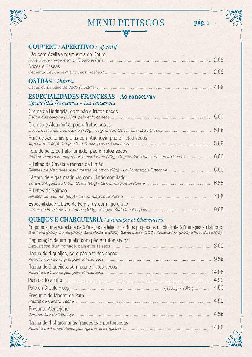 Club des Châteaux - Menu Pestiscos pág.1