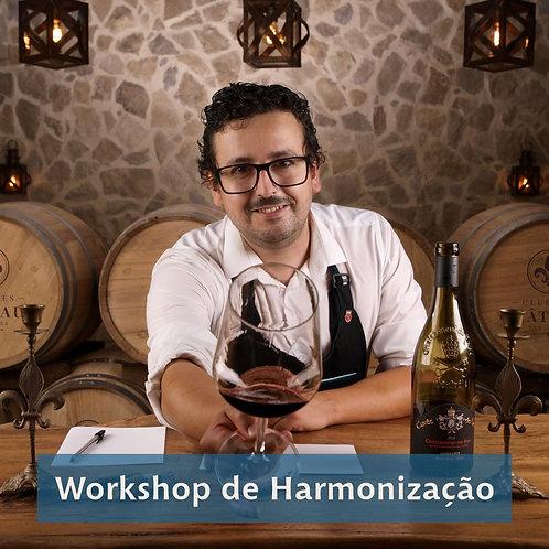 Workshop de Harmonização de Vinhos e Comidas