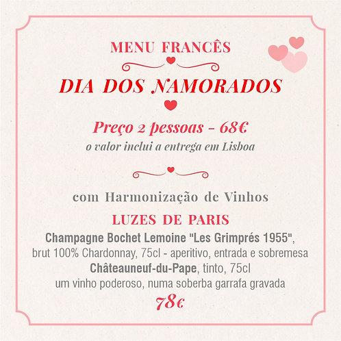 MENU 4 - Dia dos Namorados (2 pessoas) com Harmonização Luzes de Paris