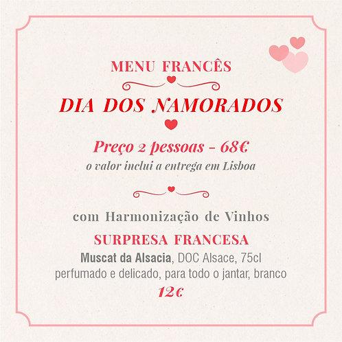 MENU 1 - Dia dos Namorados (2 pessoas) com Harmonização Surpresa Francesa