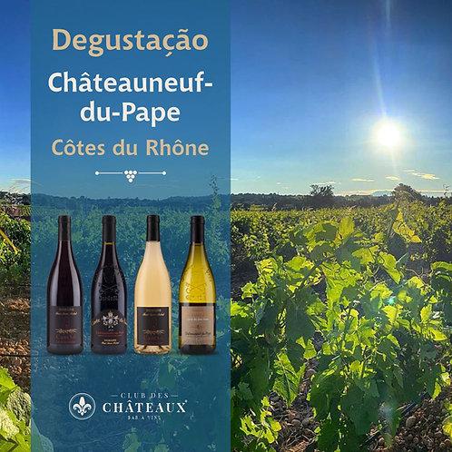 Degustação para apaixonados - Regiões Côtes de Rhône sul e Châteauneuf-du-Pape