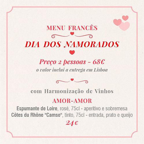 MENU 2 - Dia dos Namorados (2 pessoas) com Harmonização Amor-Amor